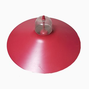 Danish Red Ceiling Lamp, 1960s