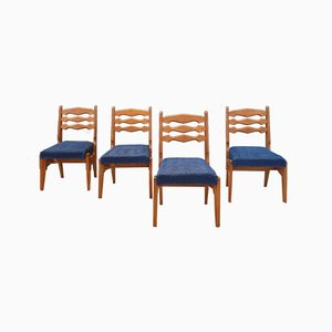 Dining Chairs by Guillerme et Chambron for Votre Maison, 1950s, Set of 4