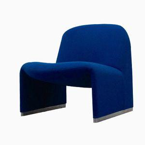 Blauer Alky Sessel von Giancarlo Piretti für Artifort
