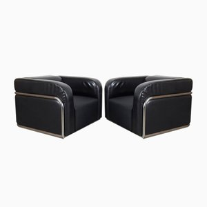 Vintage Tubular Armchairs, Set of 2