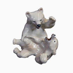 Bears Figurine by Knud Khyn for Royal Copenhagen, 1970s