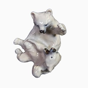 Bears Figurine by Knud Khyn for Royal Copenhagen, 1970s