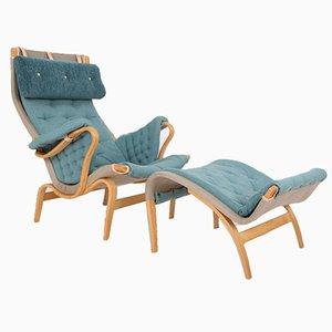 Pernilla Chair und Hocker Set von Bruno Mathsson für Dux, 1980er