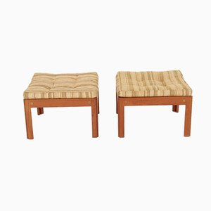 Teak Stools by Illum Wikkelsø for CFC Silkeborg, 1970s, Set of 2