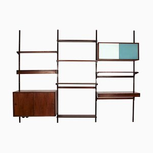 Danish Rosewood Wall Unit by Kai Kristiansen for Feldballes Møbelfabrik, 1960s