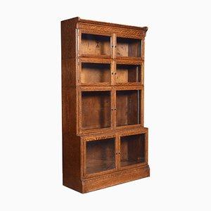 Antique Oak Four Sectional Bookcase