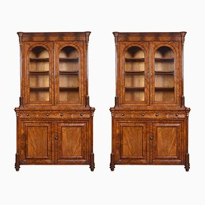 Mahogany Library Shelves, Set of 2