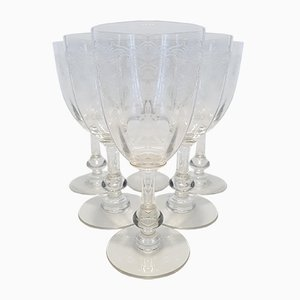 Crystal Model Massenet Wine Glasses from Saint Louis, 1930s, Set of 6