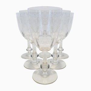 Crystal Model Massenet Port Glasses from Saint Louis, 1930s, Set of 6