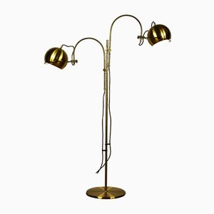 Vintage Double Sheet Brass Floor Lamp from Gepo, 1970s