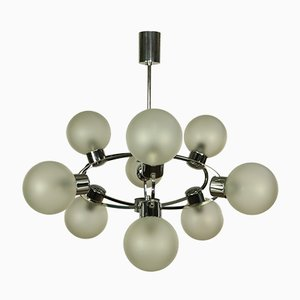 Mid-Century Glass Ball Sputnik Pendant Lamp, 1970s