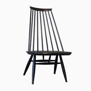 Mid-Century Schwarzer Mademoiselle Lounge Chair von Ilmari Tapiovaara für Asko
