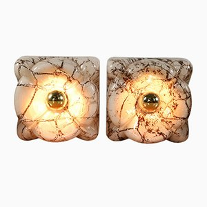 Mid-Century Marble and Glass Sconces from Doria Leuchten, Set of 4