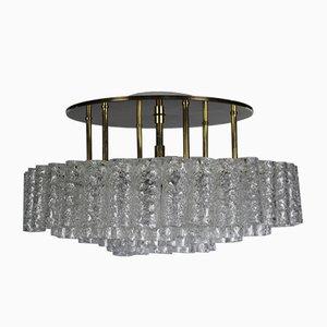 Lampada da soffitto Mid-Century ad incasso in vetro di Doria Leuchten