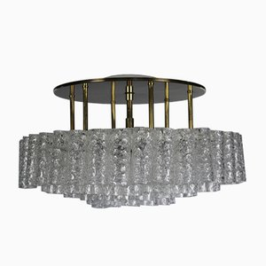 Mid-Century Glass Tube Flush Mount Ceiling Lamp from Doria Leuchten