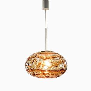 Mid-Century Glass Pendant Ceiling Lamp from Doria Leuchten
