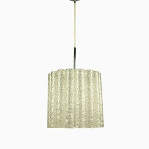 Mid-Century Glass Tube Pendant Lamp from Doria Leuchten, 1960s