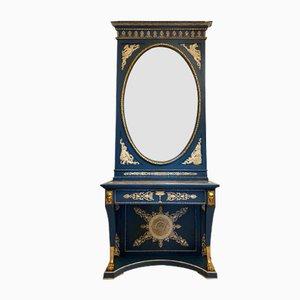 Antiker Konsolentisch und Spiegel Set