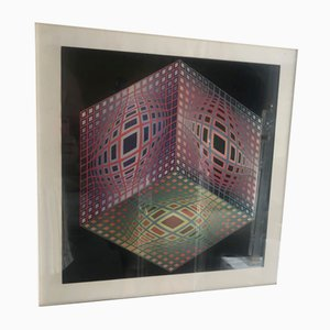 Lithograph by Victor Vasarely, 1970s