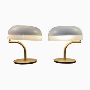 Swing-Arm Desk Lamps by Giotto Stoppino, 1970s, Set of 2