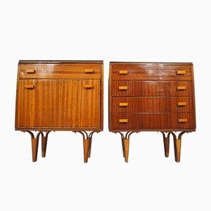 Vintage Nightstands, 1970s, Set of 2