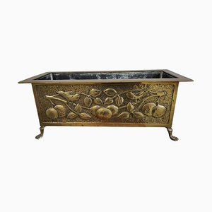 Antique Arts & Crafts Glasgow Style Brass Planter