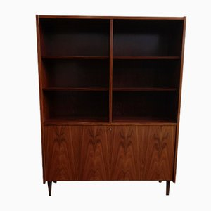 Danish Rosewood Cabinet with Glass and Mirror Bar Section from Hundevad & Co., 1970s