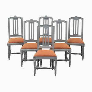 Gustavian Style Dining Chairs, 2000, Set of 6