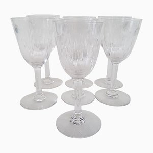 Crystal Model Molière Port Glasses from Baccarat, 1920s, Set of 7