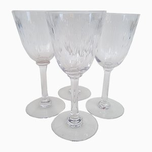 Model Molière Wine Glasses from Baccarat, 1920s, Set of 4
