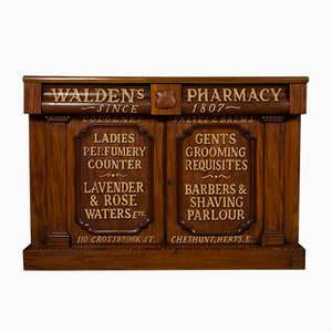 Antique Edwardian Pharmacy Cabinet