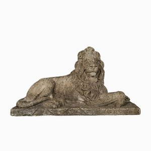 Mid-Century Lion Sculptures, Set of 2