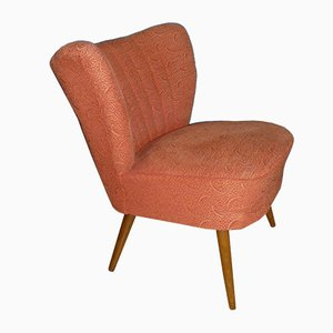 Mid-Century Salmon Color Club Chair, 1950s