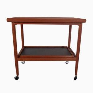 Teak Flip-Flop Expandable Cart with Removable Tray by Grete Jalk, 1960s