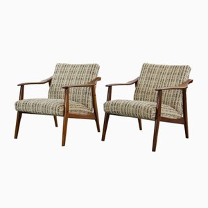 Vintage Scandinavian Teak Lounge Chairs, 1960s, Set of 2