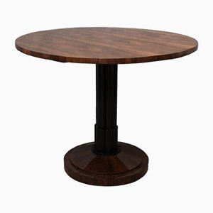 Austrian Biedermeier Round Walnut Folding Table, 1820s