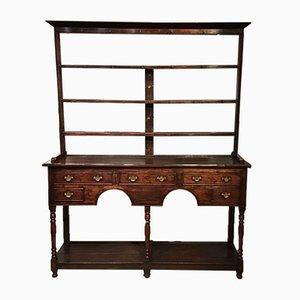 19th Century Oak and Mahogany Dresser & Rack