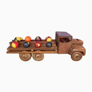 Vintage Wooden Toy Car from Dejou