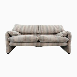 Vintage 2-Seater Maralunga Sofa by Vico Magistretti for Cassina