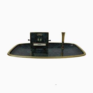 Art Deco Bauhaus Tablett mit Ewigem Kalender und Stifthalter von Jakob Maul