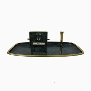 Art Deco Bauhaus Writing Tray with Perpetual Calendar and Pen Holder from Jakob Maul