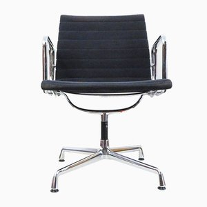 Mid-Century Aluminum and Velor Model EA108 Swivel Chair by Charles & Ray Eames for Vitra