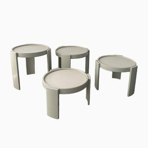 Coffee Tables by Gianfranco Frattini for Cassina, 1960s, Set of 4