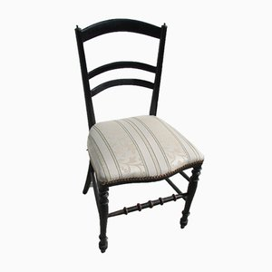 Vintage Napoleon III Style Ebonized Wood Dining Chair