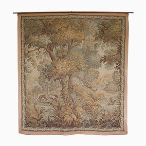 Antique Victorian Verdure Tapestry