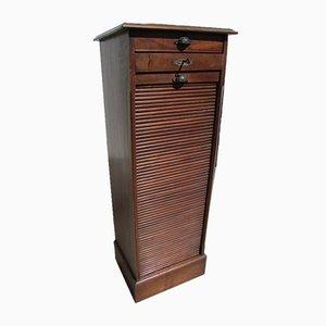 Art Deco Mahogany Tambour Cabinet