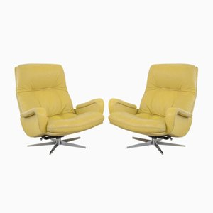 Leather Model DS 231 James Bond Lounge Chairs from de Sede, 1970s, Set of 2