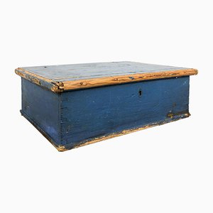 Antique Swedish Blue Pine Chest