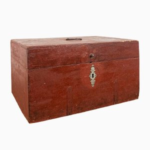 Antique Swedish Red Pine Chest
