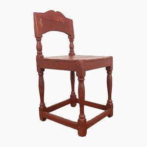 Antique Swedish Red Children's Chair